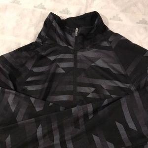 Black and grey half zip